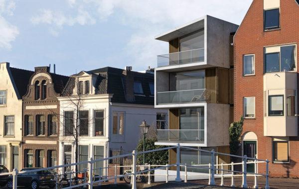 Grachtenpand met penthouse